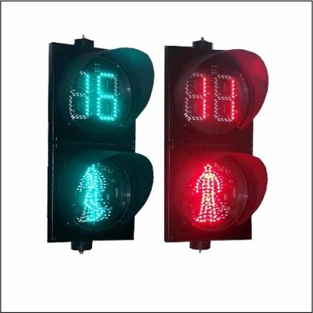 人行倒计时交通信号灯