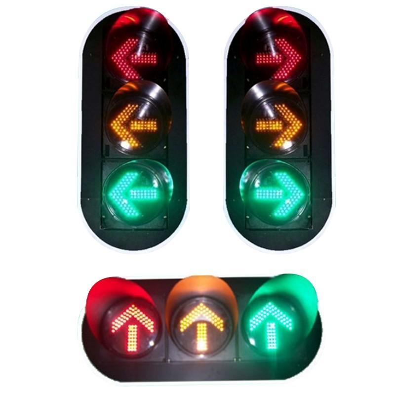 Ф300红黄绿箭头三单元