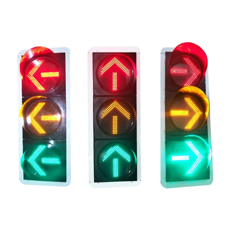 Ф400红黄绿直(左、右)箭头三单元