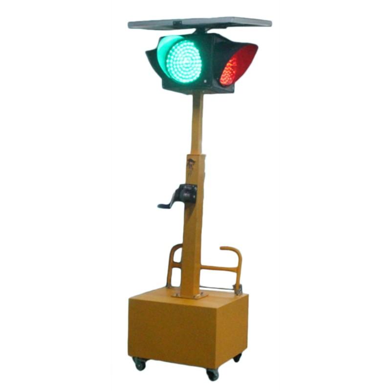 酷驼2.5米移动太阳能一体式四面交通灯 JD300红黄绿满盘三合一单元